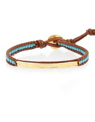 Chan Luu Turquoise And Sterling Silver Wrap Bracelet