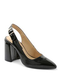Kensie Tiffanie Point Toe Leather Pumps Black