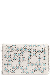Chelsea 28 Chelsea28 Embellished Faux Leather Convertible Clutch Ivory Ivory Pristine