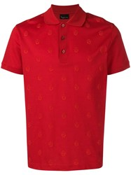 Billionaire Crest Polo Shirt Red