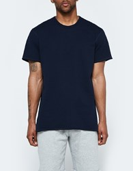 Reigning Champ Raw Edge Ss Crew In Navy