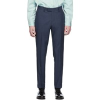 Tiger Of Sweden Blue And Black Wool Tilman Trousers