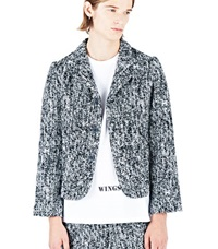Aganovich Tweed Short Jacket Black