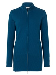 Tulchan Longline Quilted Sweat Jacket Blue