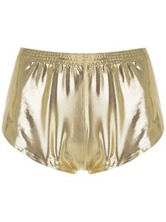 Adriana Degreas Metallic Shorts
