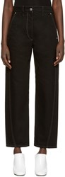 Christophe Lemaire Black Denim Twisted Trousers
