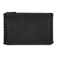 Bottega Veneta Black Intrecciato Medium Pouch 1000 Black
