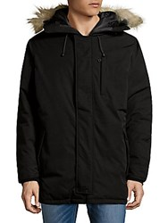 Hawke And Co Fur Hooded Down Parka Black