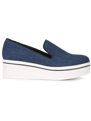Stella Mccartney Binx Slip On Loafers Blue