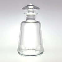 Moser Conus Old Fashioned Decanter Cut Grooves Clear