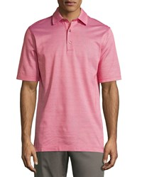Bobby Jones Short Sleeve Micro Check Polo Shirt Flag Red