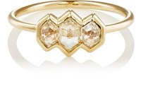 Grace Lee Women's White Diamond Module Ring Yellow