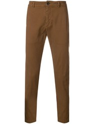 Department 5 Slim Fitted Trousers Brown