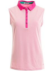 Green Lamb Felicity Sleeveless Mesh Dot Polo Pink
