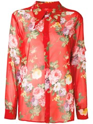Brognano Floral Patterned Shirt Red