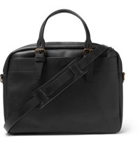 Bleu De Chauffe Leather Briefcase Black