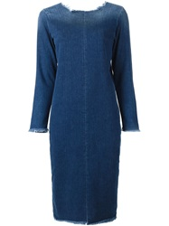 Aries Denim Midi Dress Blue