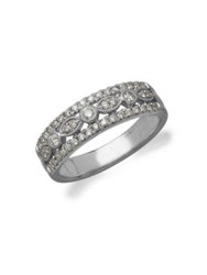 Lord And Taylor Diamond 14K White Gold Ring