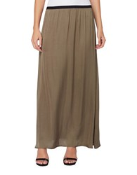 Catherine Malandrino Cole Pleated Skirt Jungle Drab