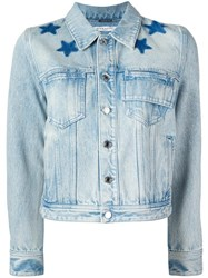 Givenchy Star Print Bleached Jacket Blue