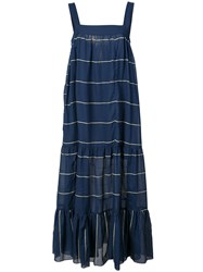 Lemlem Striped Dress Blue