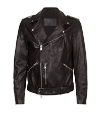 Allsaints All Saints Kahawa Leather Biker Jacket Male Black
