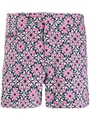 Mc2 Saint Barth Mosaic Print Swim Shorts Pink