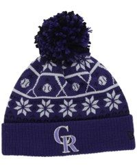 New Era Colorado Rockies Sweater Chill Pom Knit Hat
