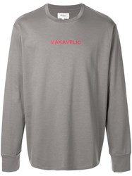 Makavelic 'Gun And Rose' Sweatshirt Grey