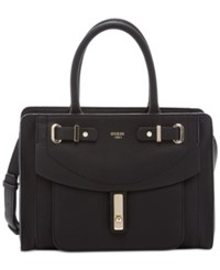 Guess Kingsley Small Satchel Black