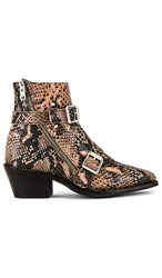 Allsaints Lior Bootie In Taupe. Taupe Snake