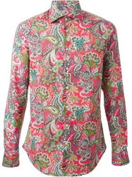 Etro Floral Paisley Print Shirt Pink And Purple