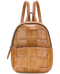 Patricia Nash Woven Jacini Backpack Sand Gold