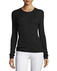 Michael Kors Collection Long Sleeve Cashmere Top Black Women's Size L