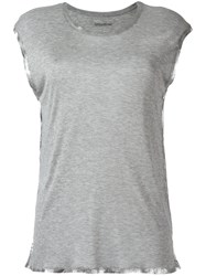 Zadig And Voltaire Shinny Trim T Shirt Grey