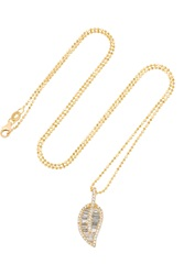 Anita Ko Leaf 18 Karat Gold Diamond Necklace