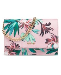 Nine West Anndi Mini Shoulder Bag Pink Multi Tropical Palm