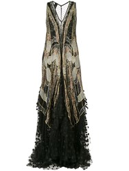 Romance Was Born Exoskeleton Lace Gown Black
