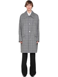 Givenchy Oversized Check Wool Coat Blue