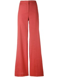 Theory Flared Trousers Women Linen Flax Spandex Elastane Viscose 2