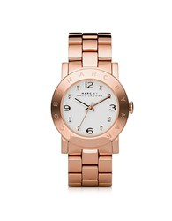 Marc By Marc Jacobs Amy 36.5Mm Rose Stainless Steel Bracelet Watch Pink