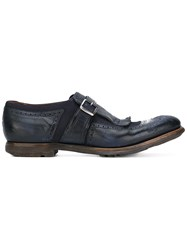Church's Fringed Loafers Men Calf Leather Leather Rubber 9.5 Blue