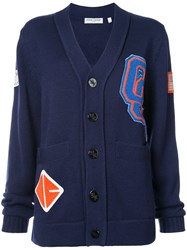 Opening Ceremony Varsity Jacket Acrylic Wool Xs Blue