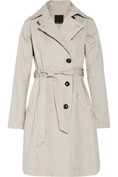 Marissa Webb Cotton Trench Coat Beige