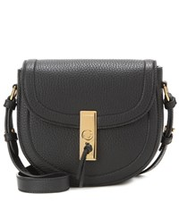 Altuzarra Ghianda Saddle Mini Leather Crossbody Bag Black
