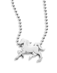 Alex Woo Sterling Silver Horse Icon Necklace
