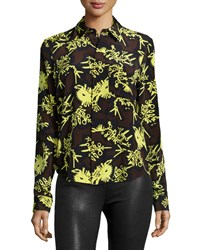 Kenzo Runway Printed Formal Shirt Chocolate