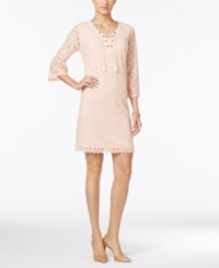 Styleandco. Style Co. Lace Peasant Dress Only At Macy's Crushed Petal