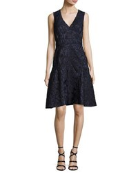 J. Mendel Sleeveless Fil Coupe Dress Blue