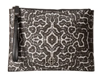 Rafe New York Alexa Zip Pouch Black White Coral Handbags